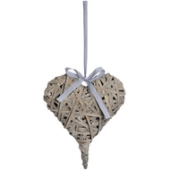 Medium Washed Grey Woven Hanging Heart
