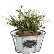 Fleurs Shallow Wired Planter with Rope Detailing
