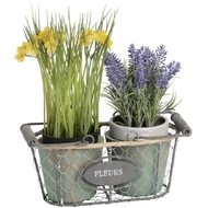 Fleurs Double Wired Plant Pot with Rope Detailing