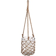 Hanging Glass Jar in Twine Net