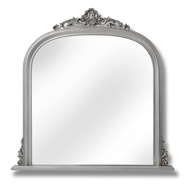 Antique Silver Over Mantel Mirror