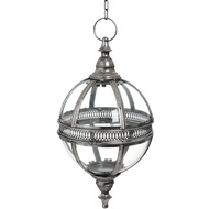 Antique Silver Hanging Glass Sphere