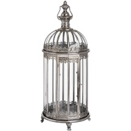 Antique Silver Circular Lantern With Dome Top