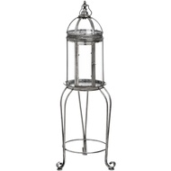 Floor Standing Antique Silver Lantern