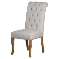 Roll Top Dining Chair With Ring Pull