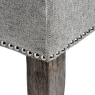 Silver Roll Top Dining Chair With Ring Pull - Thumb 5