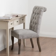 Silver Roll Top Dining Chair With Ring Pull - Thumb 7