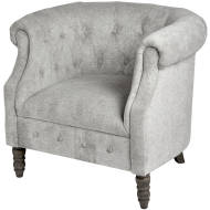 Silver Chesterfield Tub Chair