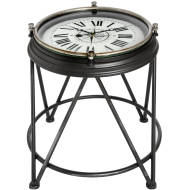 Compass Clock Side Table
