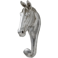 Antique Silver Horse Wall Hook
