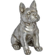 Antique Silver French Bull Dog