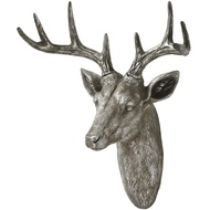 Antique Silver Wall  Hanging Stag