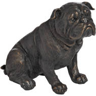 Sitting British Bulldog In Antique Bronze