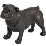 Standing British Bulldog In Antique Bronze