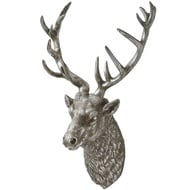 Large Antique Silver Wall Hanging Stag