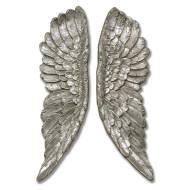 Antique Silver Angel Wings - Thumb 1