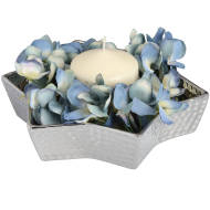 Medium Silver Ceramic Star Display Dish With Dimple Effect