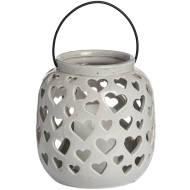 Large Ceramic Heart Lantern