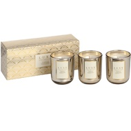 Gold Leaf Set of Three Candles By Luxe Collection
