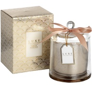 Gold Leaf Large Candle With Cloche By Luxe Collection