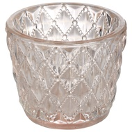 Small Diamond Design Pink Tealight Holder