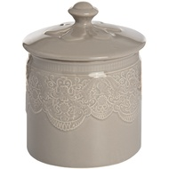 Grey Porcelain Storage Trinket Jar