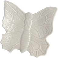 Medium White Butterfly Design Display Dish