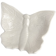 Small White Butterfly Design Display Dish
