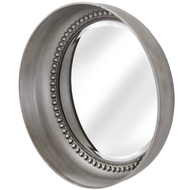 Small Silver Beaded Mirror Wall Dish