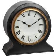 Antique Mantel Clock with Gold Rim