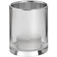 Smoked Silver Glass Tealight Holder