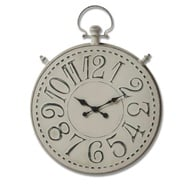 Large Antique Grey Pocket Watch Clock