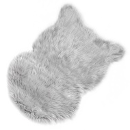 Light Grey Faux Sheepskin Rug