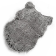 Dark Grey Faux Sheepskin Rug