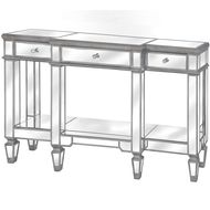 The Silver Belfry Collection Mirrored Display Console
