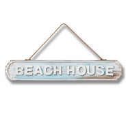 Wooden Hanging Beach House Sign