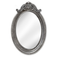 Antique Silver Oval Mirror