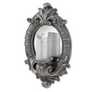 Antique Silver Decorative Candle Mirror