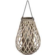 Large Wicker Bulbous Lantern