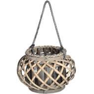 Small Wicker Basket Lantern