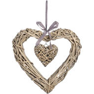 Large Wicker Heart Wreath