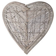 Medium Heart Wicker Wall Art