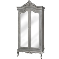 Estelle Collection Silver Leaf Double Wardrobe