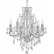 Traditional Drop Crystal Chandelier in Brushed grey