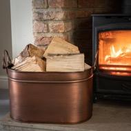 Large Copper Log Bucket - Thumb 4