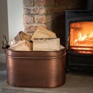 Large Copper Log Bucket - Thumb 5