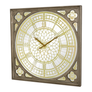 Big Ben Clock In An Antique Gold Finish