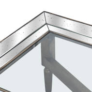 Astor Glass Coffee Table With Mirror Detailing - Thumb 2