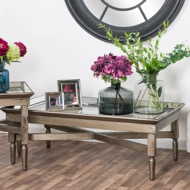 Astor Glass Coffee Table With Mirror Detailing - Thumb 4