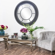 Astor Glass Coffee Table With Mirror Detailing - Thumb 5